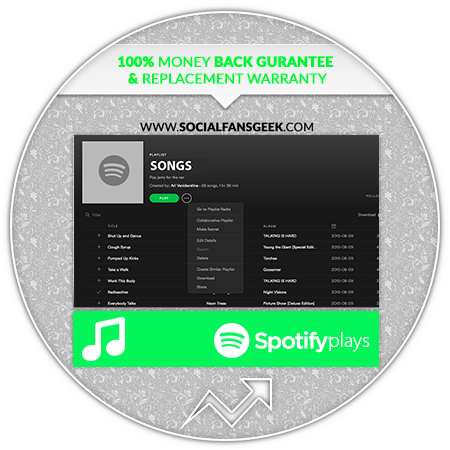 Buy Spotify Plays ~ $1 8 Per 1000 Real Plays ~ Listeners